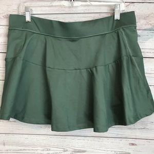 Green Victoria Sport Skort Workout Skirt Size L